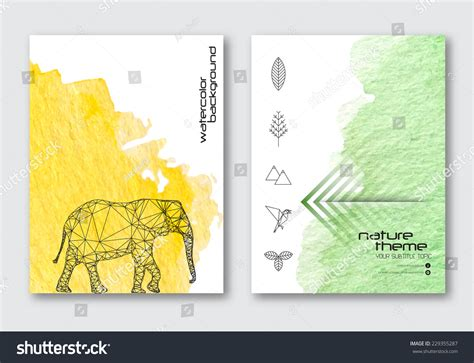 banner design for nature vector nature poster templates hand drawn stock vector