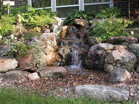 backyard water falls waterfalls striking complement to backyard layout