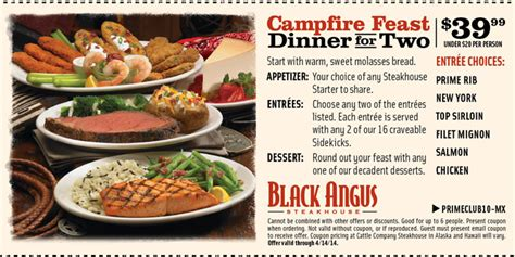 black angus steakhouse coupons promo codes 2016 angus coupons