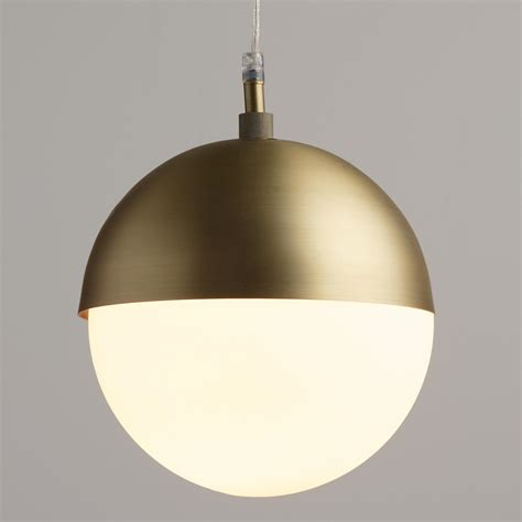 Glass Globe Pendant Lights Frosted Glass Globe Hailey Pendant World Market