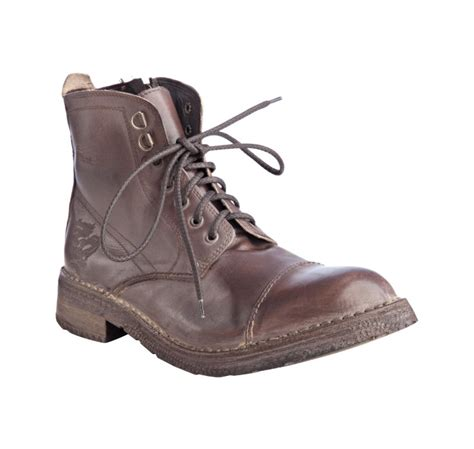 nason boots nason brown leather bleeker lace up boots in brown