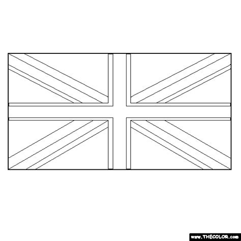 Online Coloring Pages Starting With The Letter B Page 10 Uk Flag Coloring Page