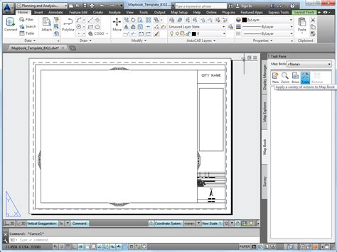 computer templates for autocad setting up a map book template