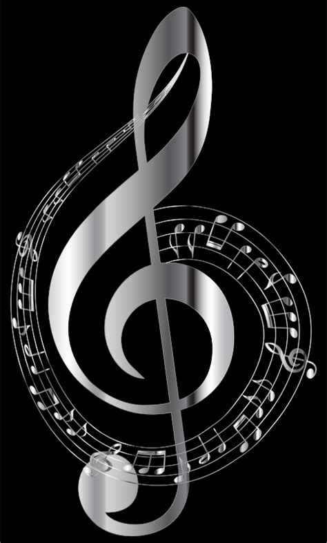 chrome note clipart chrome musical notes typography