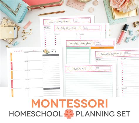 Printable Montessori Calendar | montessori homeschool printable lesson plan weekly calendar