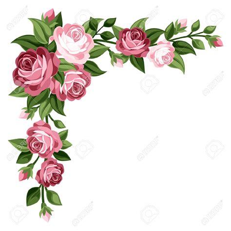 theme line vintage flower free rose flower border clipart tags pinterest rose