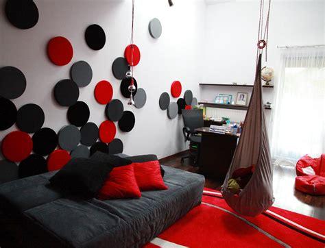 wandgestaltung jugendzimmer wohnzimmer rot punkte wandgestaltung wohnzimmer grau rot