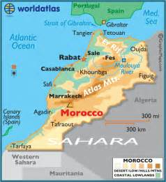 Morocco World Map by Morocco Large Color Map