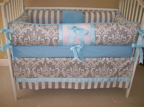baby blue bedding blue and grey baby bedding