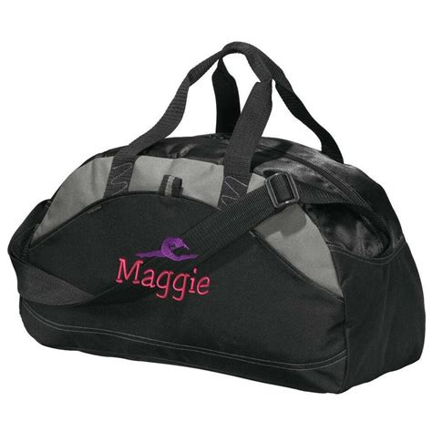 gymnastics duffel bag personalized gym bag embroidered