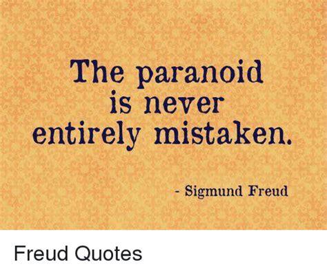 paranoid    mistaken sigmund freud freud quotes meme  meme