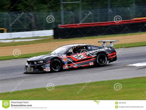 Race On pro ford mustang race car on the course editorial stock photo image 58278463