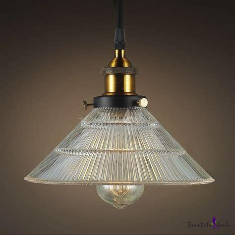 glass bowl l shade buy ribbed glass bowl shade 1 light hanging pendant at