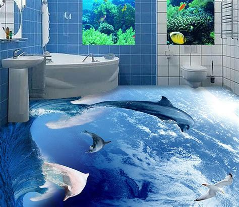 dolphin wallpaper for bathroom online buy wholesale dolphin wallpapers from china dolphin