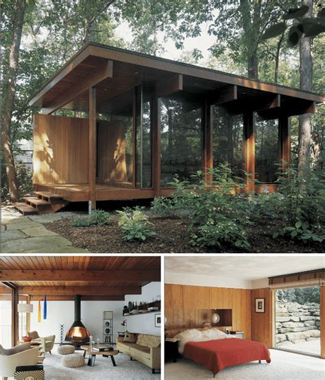 modern small cabins decorating a log cabin