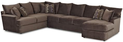 L Sectional Sofas by L Shaped Sectional Sofa With Right Chaise By Klaussner