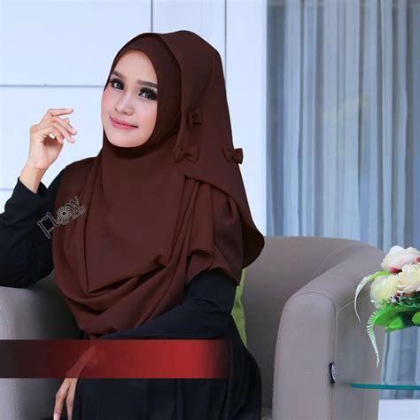 Tk1 Kerudung Jilbab Instant Ribboni jual jilbab flowing instant ribboni murah bababeli