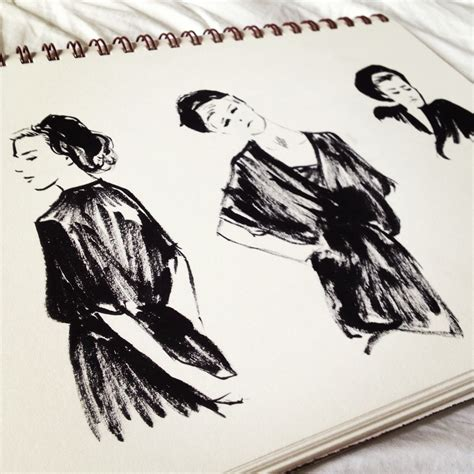 sketchbook ink fashion sketch tara jacoby