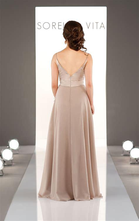 Bridesmaid Dress Fabrics - mixed fabric bridesmaid dress sorella vita bridesmaid
