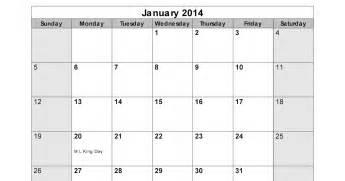 January 2014 Calendar Template by January 2014 Calendar Printable 15 Printable Calendar