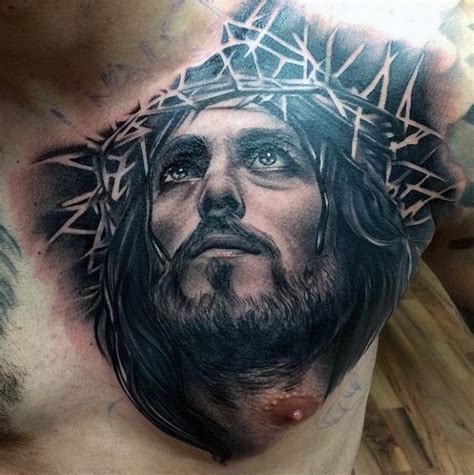 tattoo designs jesus christ 40 jesus chest designs for chris ink ideas