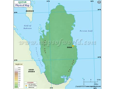 physical map of qatar buy qatar physical map