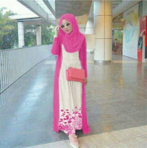 Dress Yasa Pink Dres Fashion Terbaru baju dress muslim pink model terbaru murah