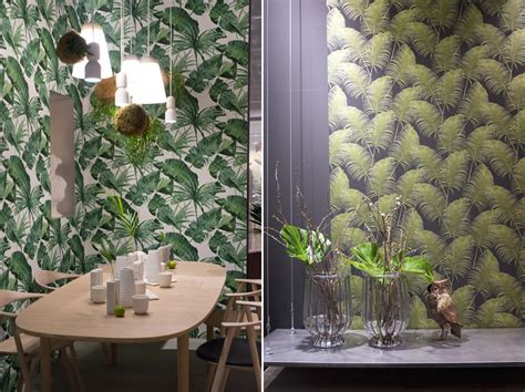 botanical interiors trend 2015 jungle wallpaper from plant trends from imm 2017 in cologne