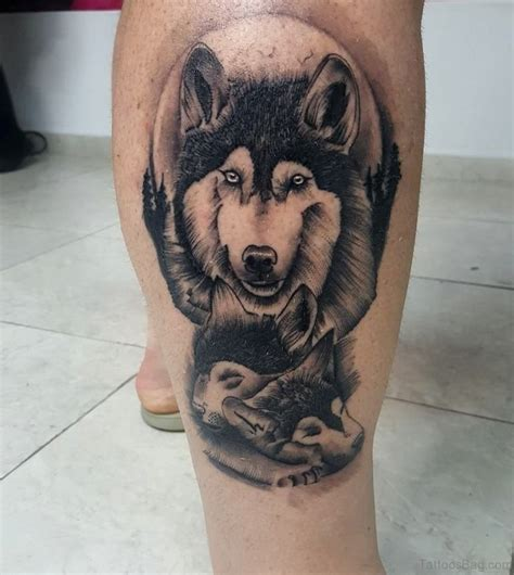 41 Marvelous Wolf Tattoos For Leg Wolf Tattoos For