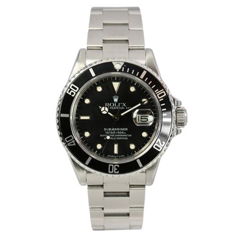 rolex pre owned s submariner date 16800