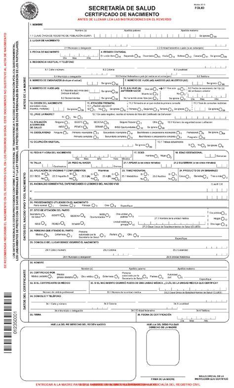 certificado de defuncion acta de nacimiento actas de matrimonio en mexico