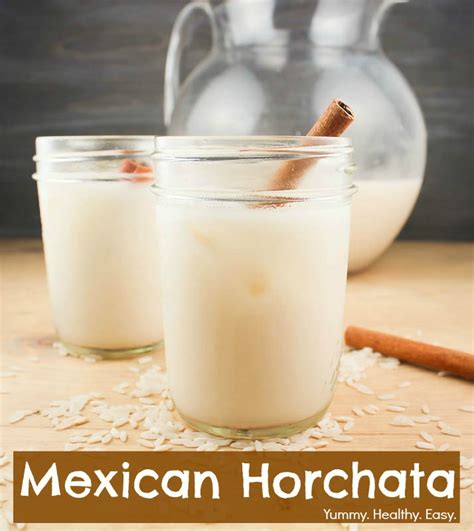 mexican horchata delicious rice cinnamon drink