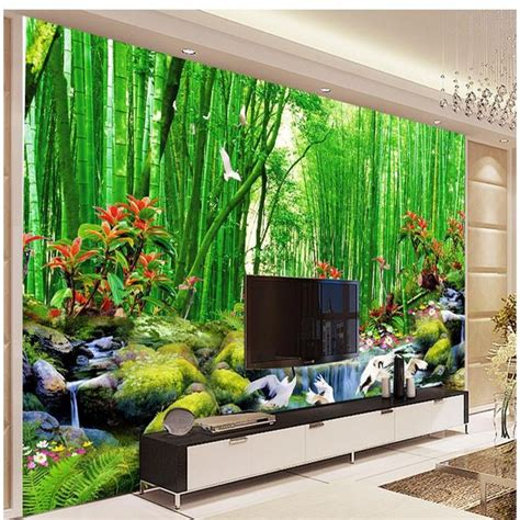 wall murals images hd bamboo murals tv backdrop 3d wall murals wallpaper for walls 3 d living room bedroom murals