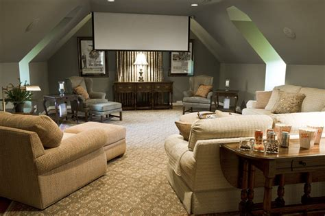media room eclectic home theater richmond