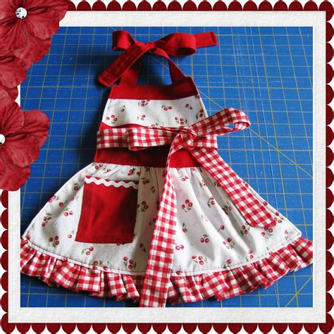 sewing pattern apron children s apron with ruffle sewing tutorial pdf pattern