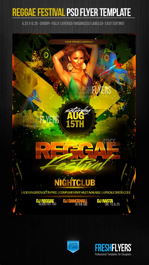 template flyer reggae reggae festival psd flyer template by imperialflyers on