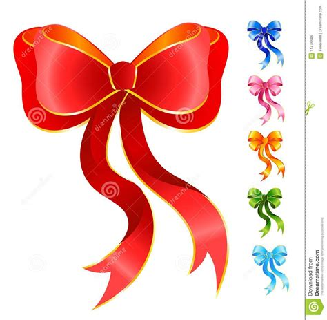 varicoloured festive bows stock vector illustration of