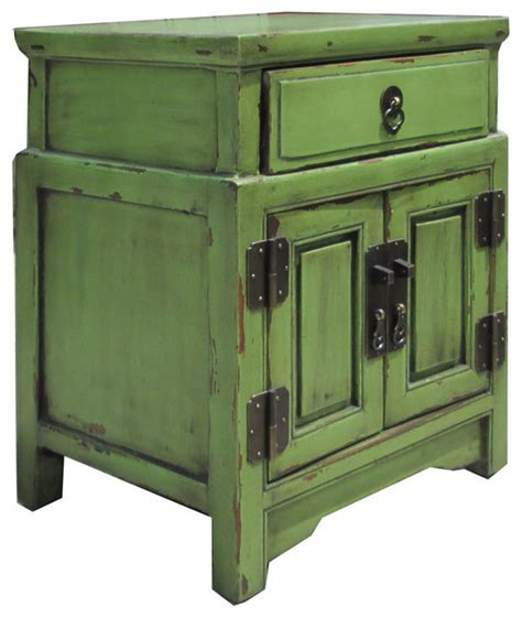 Green Nightstand Table Unique Green Antique Nightstand End Table Cabinet