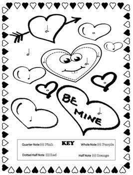 music valentine coloring pages music coloring pages valentine s day by emily conroy tpt