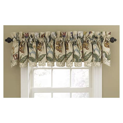 waverly home classics curtains shop waverly home classics 14 in parchment cotton rod