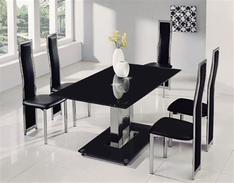 jet large glass dining table dining table  chairs