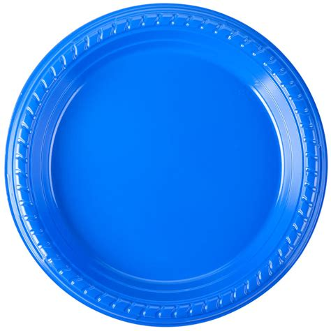Blue Plate dart ps75b 0099 7 quot blue plastic plate 500