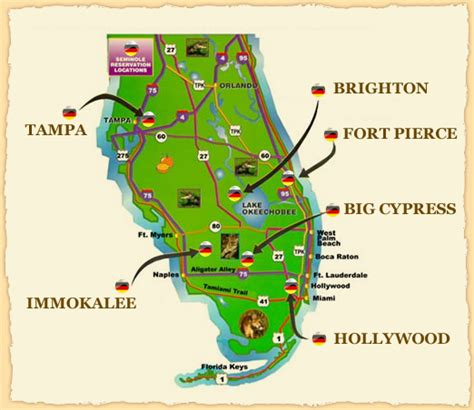 florida indian reservations map seminole tribe of florida tourism and enterprises