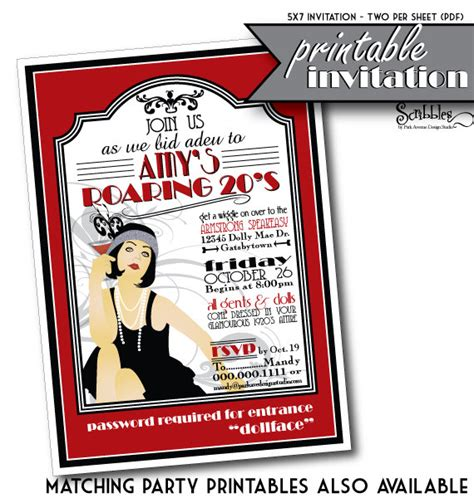 roaring twenties invitation template roaring 20s invitations cimvitation