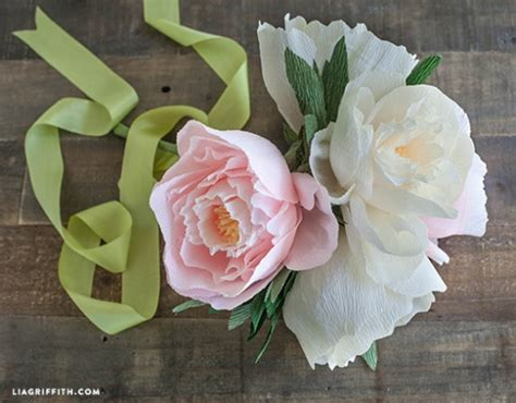 diy crepe paper peonies diy crepe paper peonies by lia griffith project
