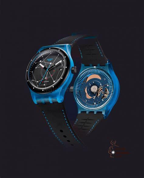 Swatch Swiss Black Blue swatch sistem51 a swiss made watchmaking revolution