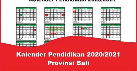 kalender pendidikan  provinsi bali  mautidurcom