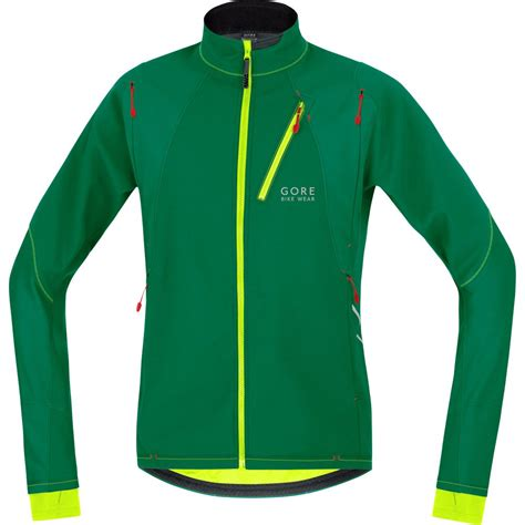 green cycling jacket gore bike wear fusion cosmo soft shell jacket varsity