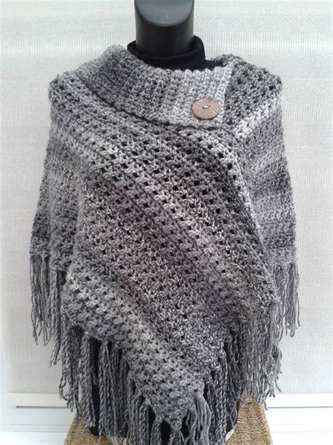 free poncho knitting patterns adults crocheted poncho from www theroominmyhead