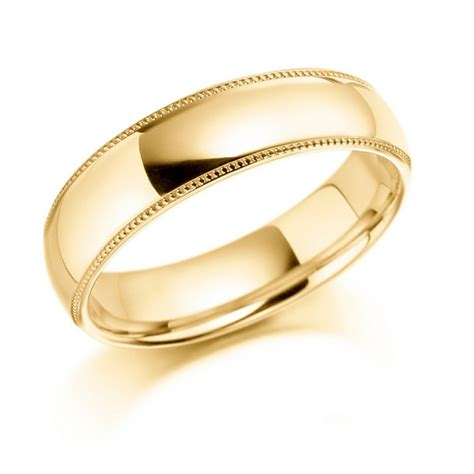 9ct yellow gold gents wedding ring